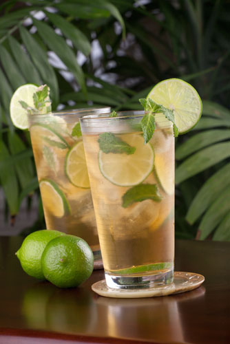 Perfectly Mint Punch with Lime