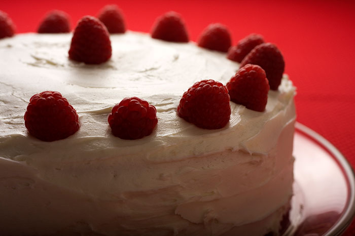 Raspberry Royale Angel Food Cake