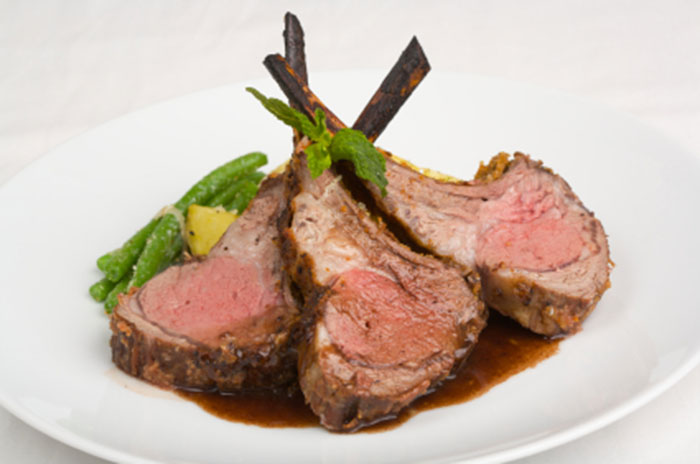 Lamb Chops with Perfectly Mint® Gravy
