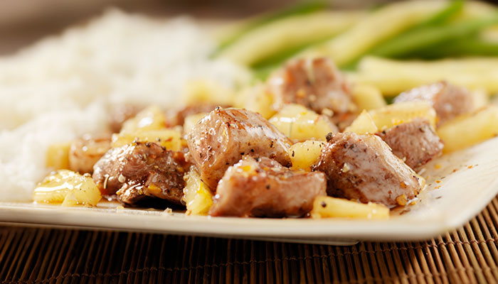 Spicy Pineapple Pork
