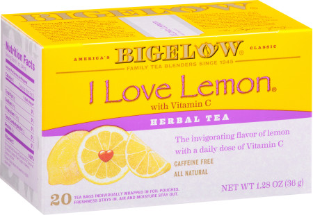 I Love Lemon Herbal Tea - Case of 6 boxes- total of 120 teabags